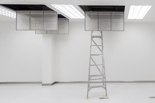 Service - Bilde av ventilasjonssystem under service